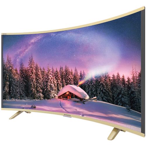 تلفاز الشاشة المنحنية